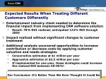 expected results when treating different customers differently