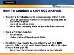 how to conduct a crm roi analysis