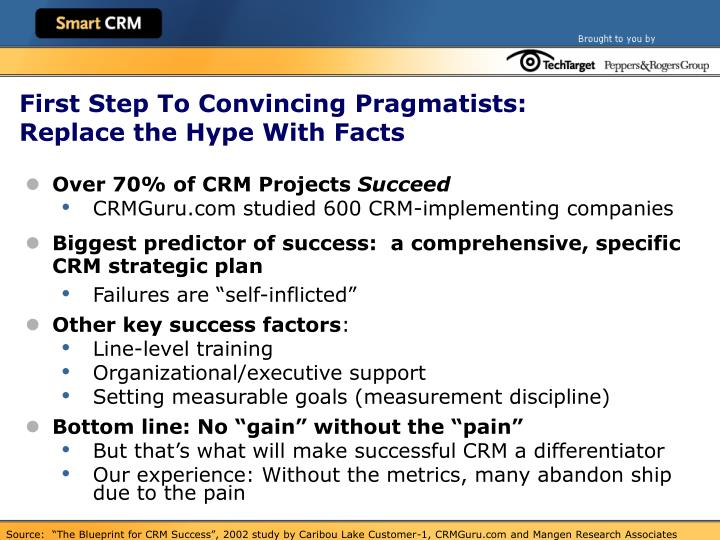 First Step To Convincing Pragmatists: