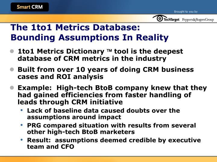 The 1to1 Metrics Database: