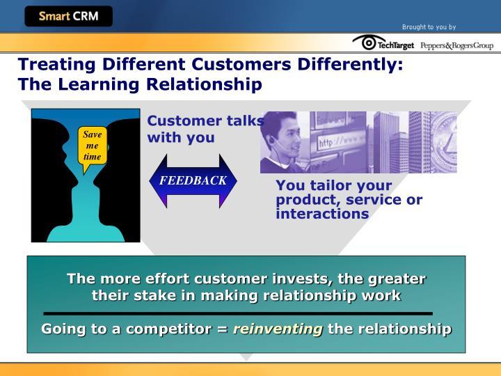 Customer talks
