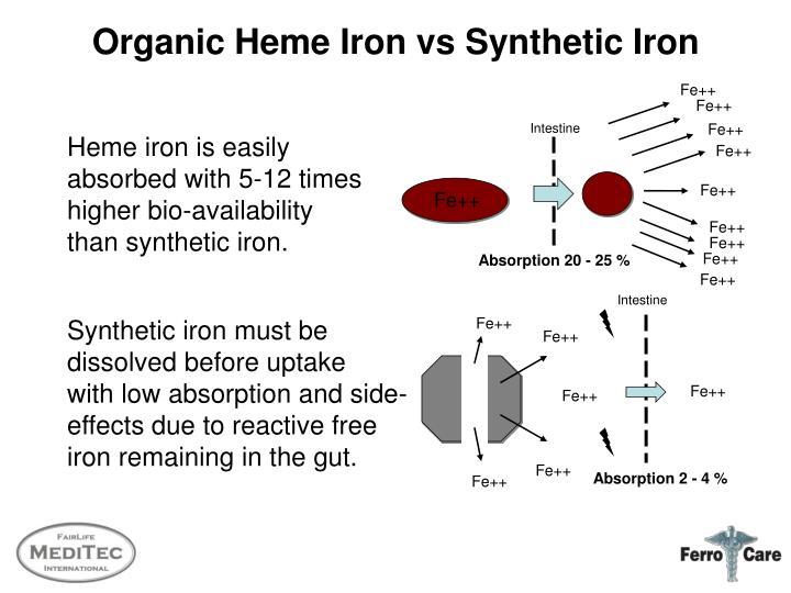 Organic Heme Iron vs Synthetic Iron