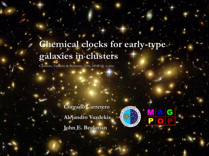 Chemical clocks for early-type galaxies in clusters