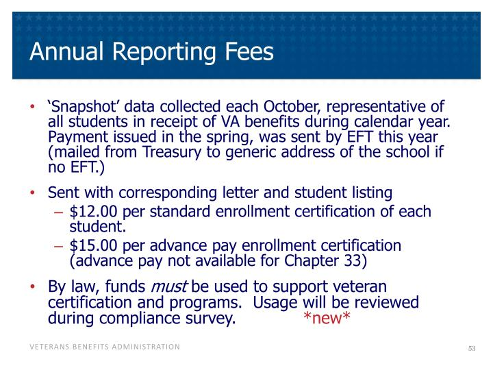 Annual Reporting Fees