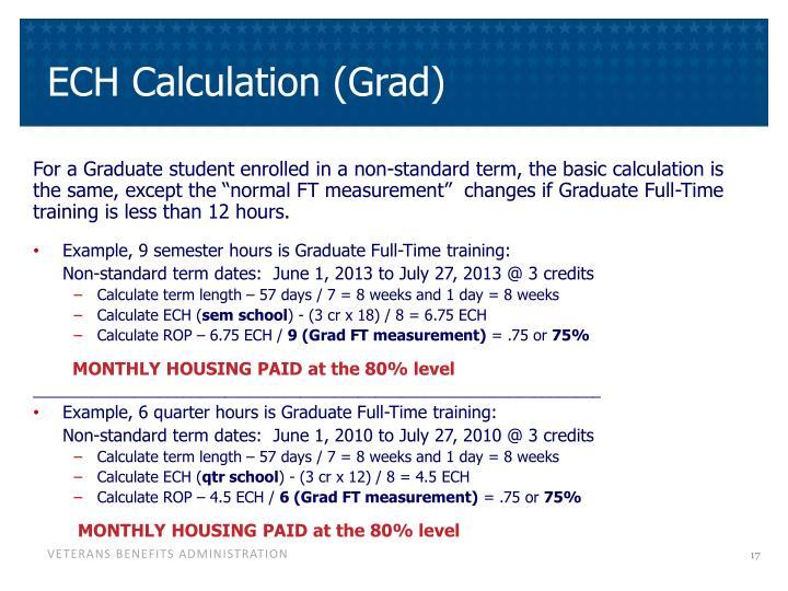 ECH Calculation (Grad)