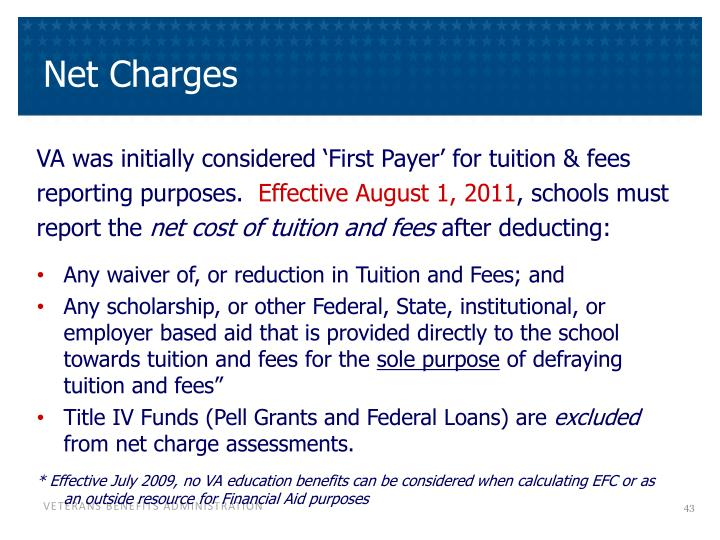 Net Charges