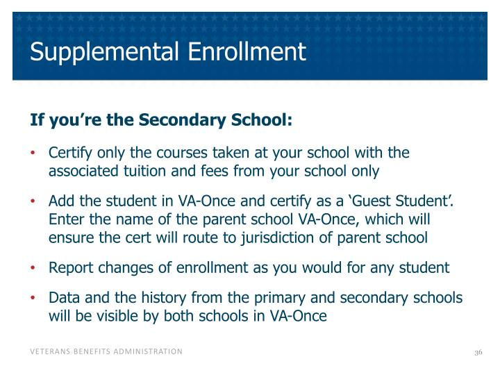 Supplemental Enrollment