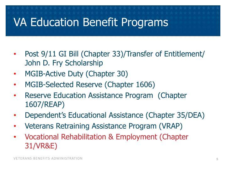 VA Education Benefit Programs