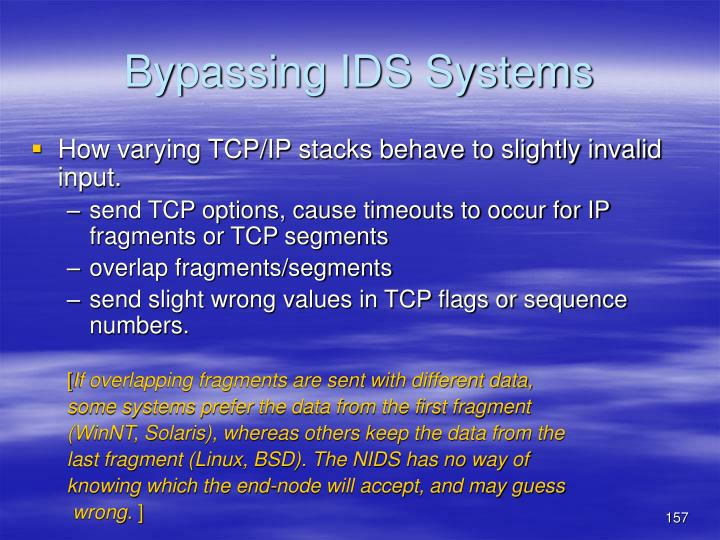 Bypassing IDS Systems