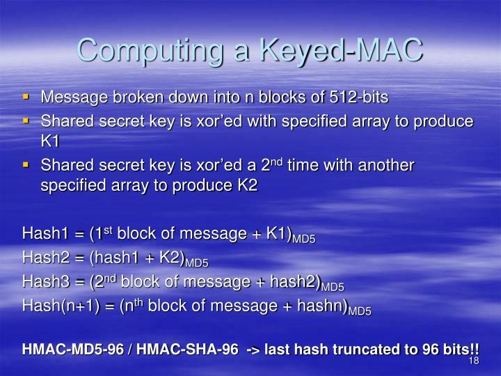 Computing a Keyed-MAC