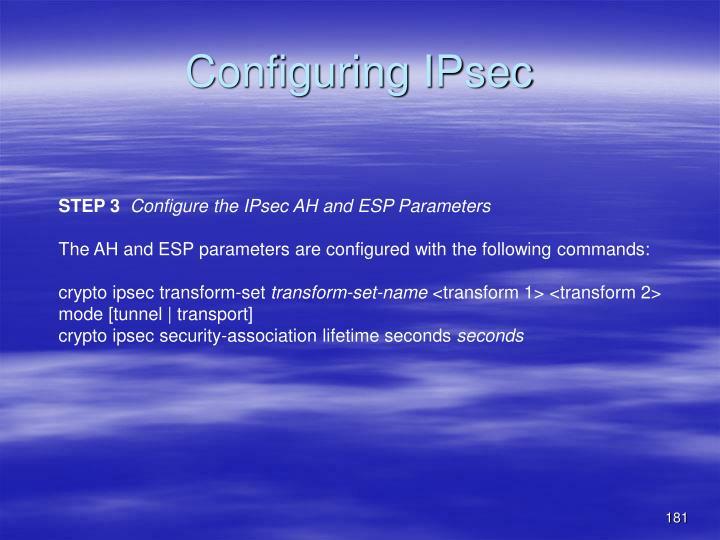 Configuring IPsec