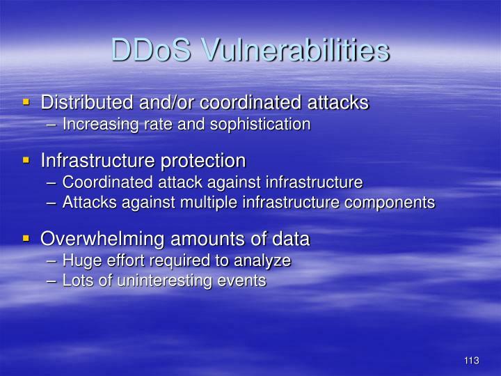 DDoS Vulnerabilities