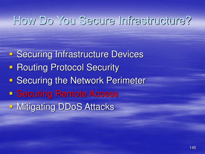 How Do You Secure Infrastructure?