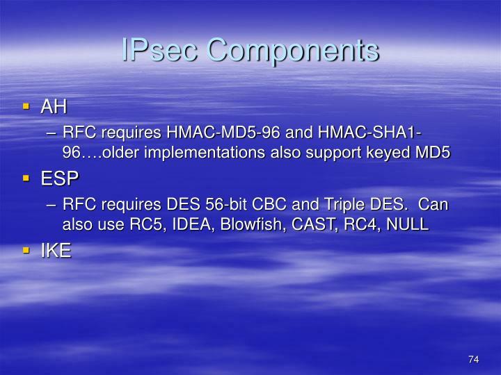 IPsec Components