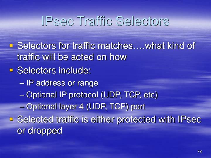 IPsec Traffic Selectors