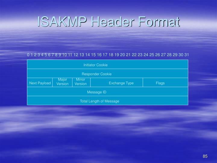 ISAKMP Header Format