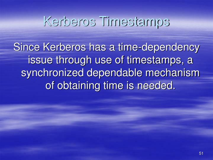 Kerberos Timestamps