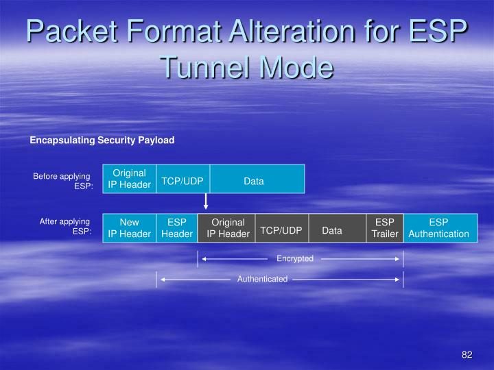 Packet Format Alteration for ESP Tunnel Mode