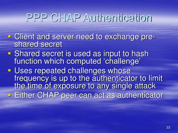 PPP CHAP Authentication