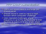 ppp chap authentication