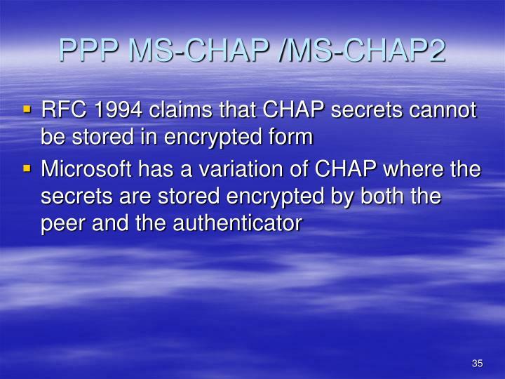 PPP MS-CHAP /MS-CHAP2