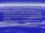 rfc 3013 recommended isp security services procedures