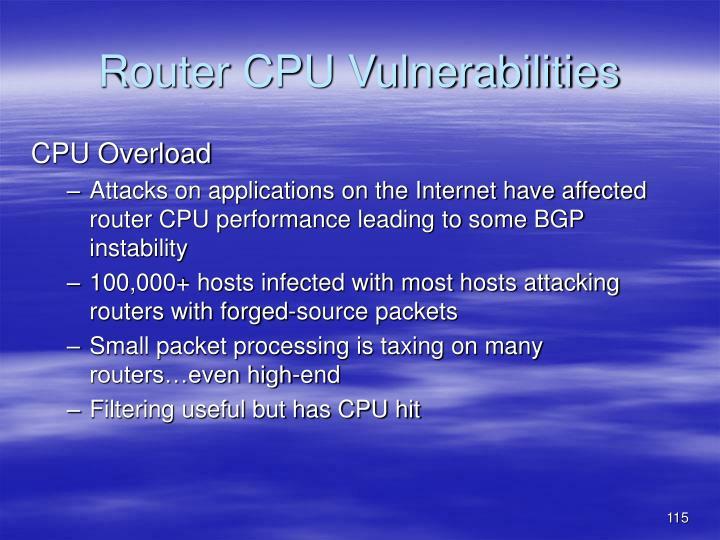 Router CPU Vulnerabilities