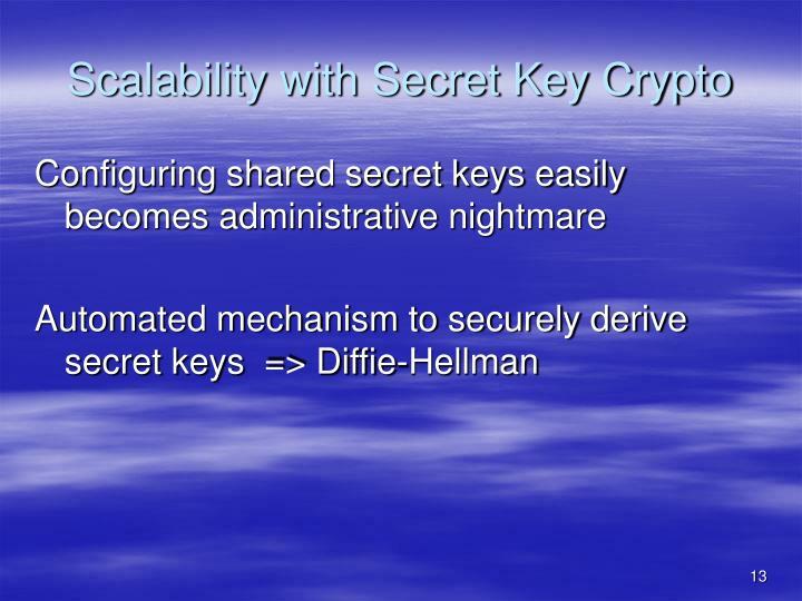 Scalability with Secret Key Crypto