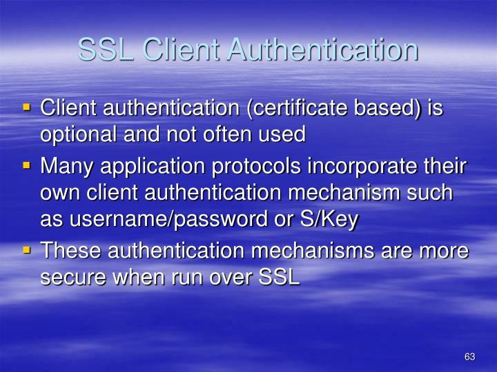 SSL Client Authentication