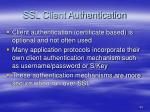 ssl client authentication