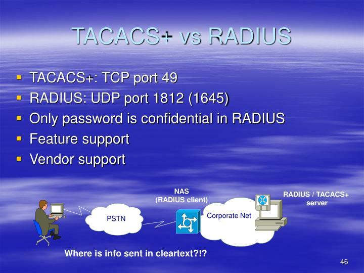 TACACS+ vs RADIUS