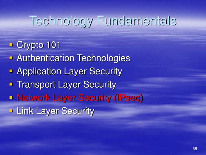 Technology Fundamentals