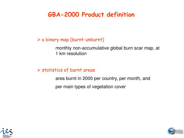 GBA-2000 Product definition