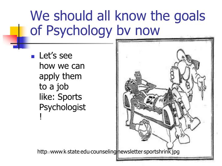 We should all know the goals of Psychology by now