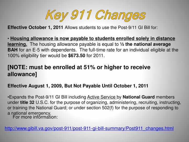 Key 911 Changes
