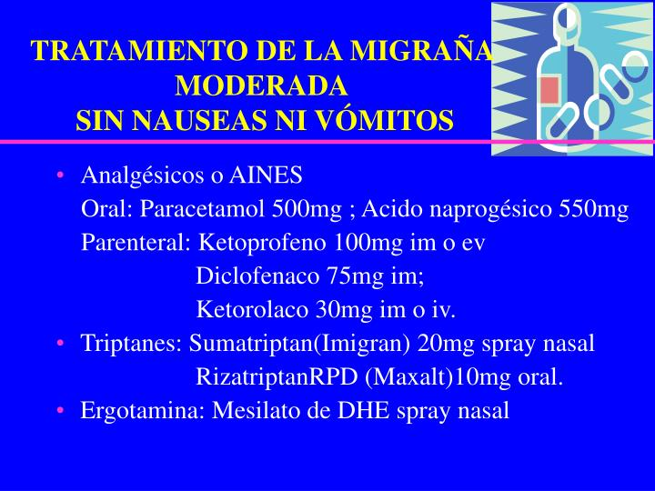 TRATAMIENTO DE LA MIGRAÑA MODERADA