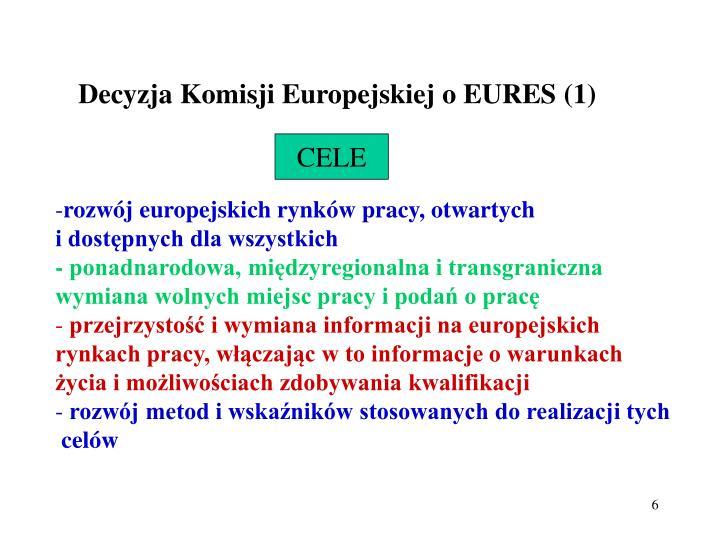 Decyzja Komisji Europejskiej o EURES (1)