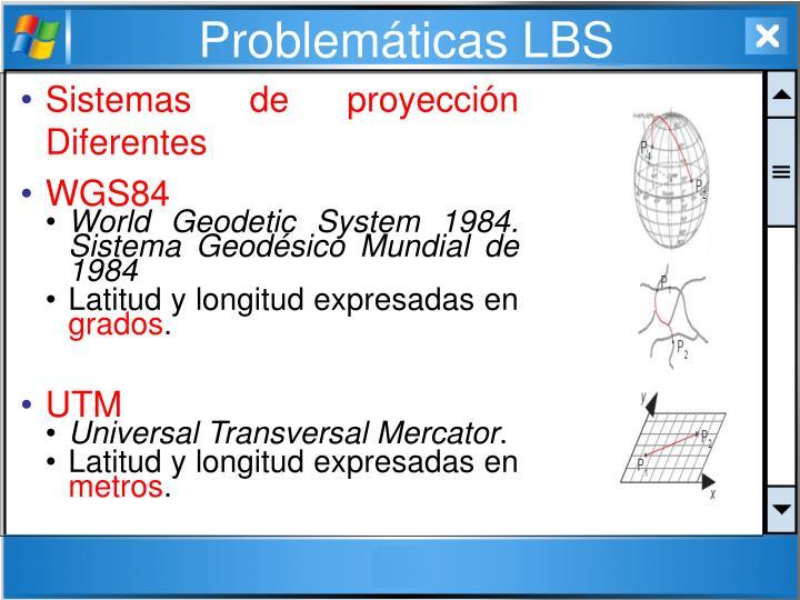 Sistemas de proyección Diferentes