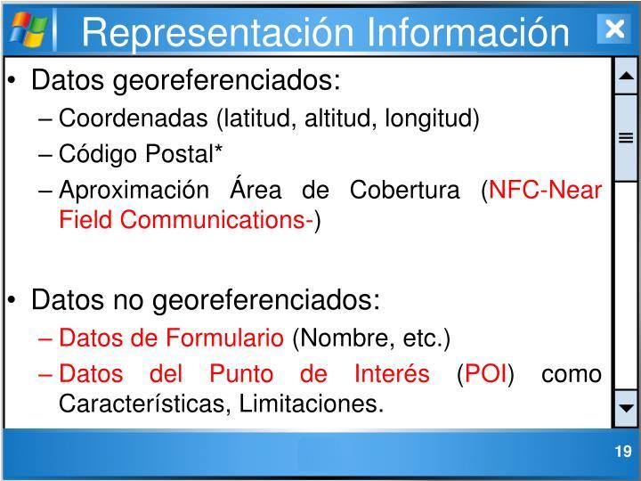Representación Información
