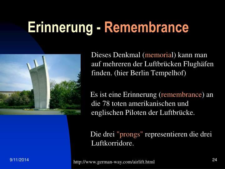 Erinnerung -