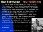 neue beziehungen new relationships