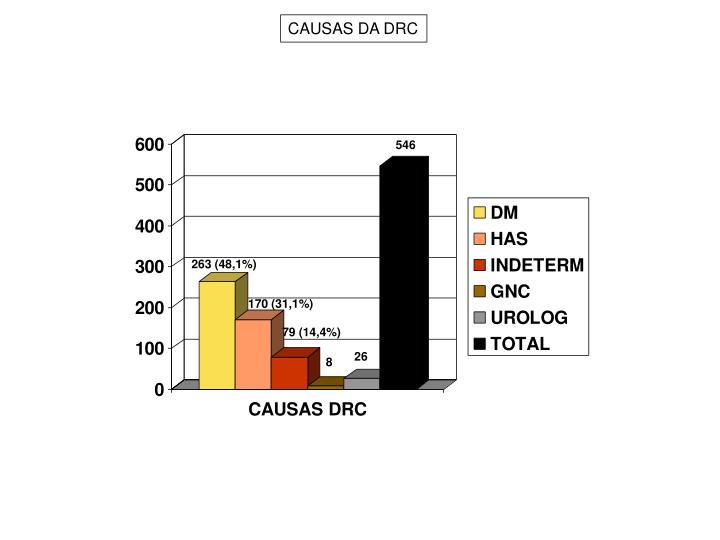 CAUSAS DA DRC