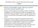 penelitian micro cog dr wonder donovan 1984
