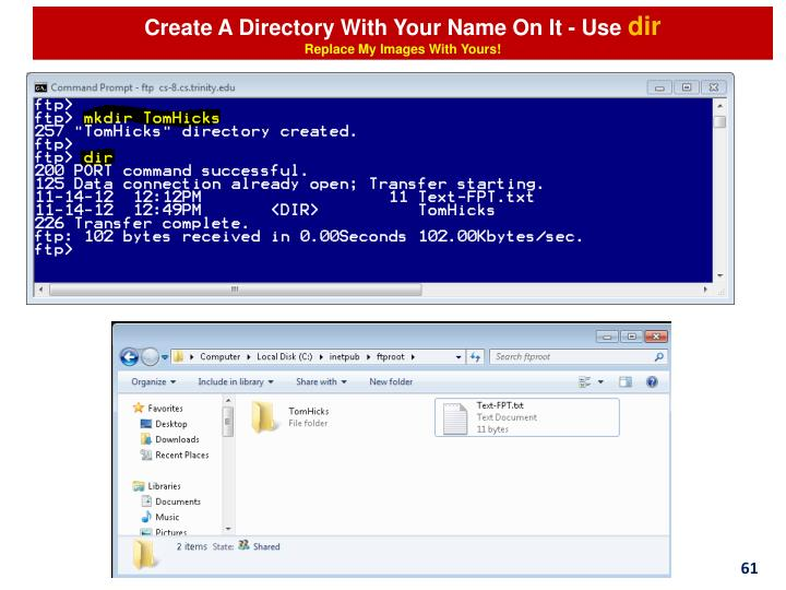 Create A Directory With Your Name On It - Use