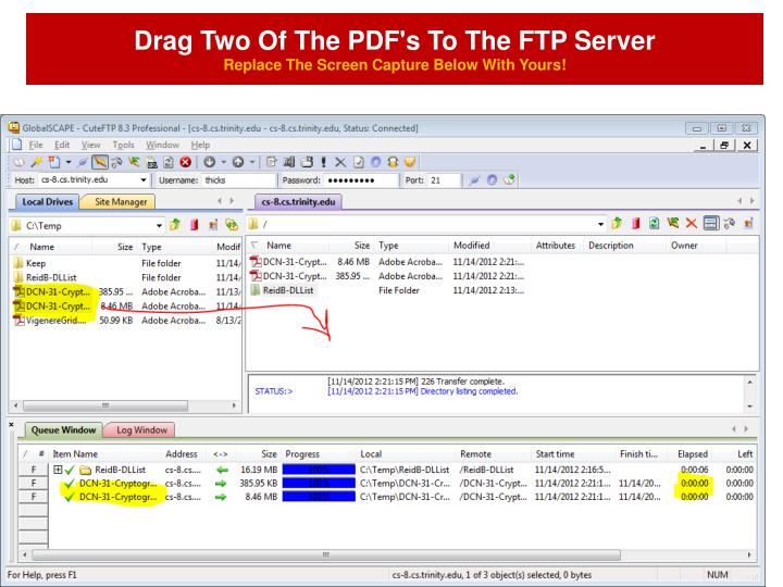 Drag Two Of The PDF's To The FTP Server