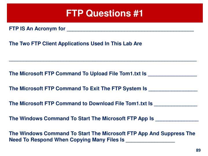 FTP Questions #1