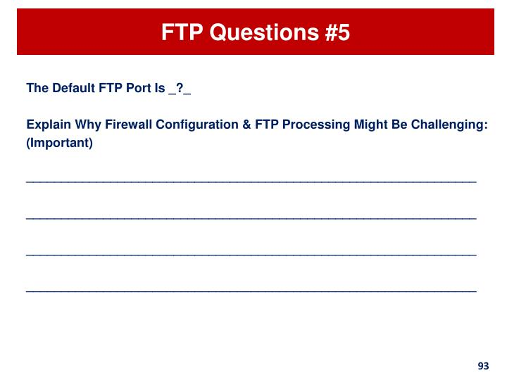 FTP Questions #5