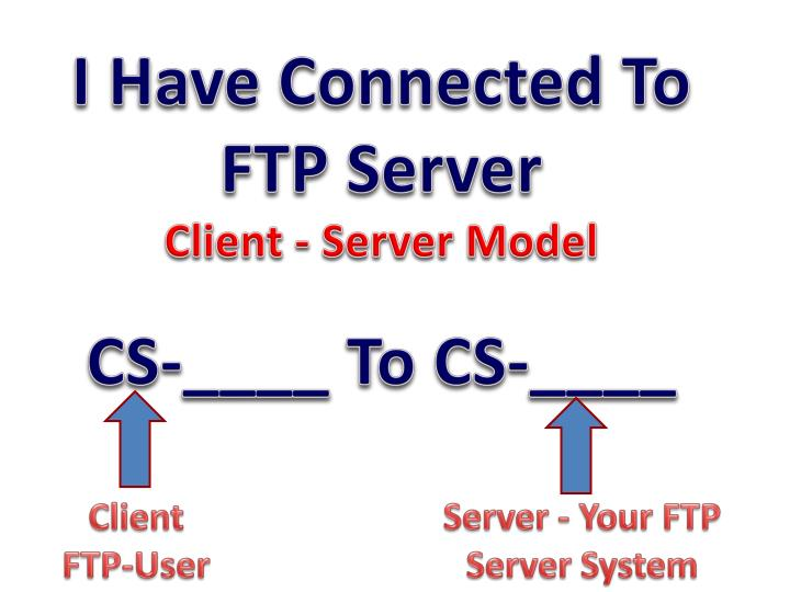 I Have Connected To FTP Server