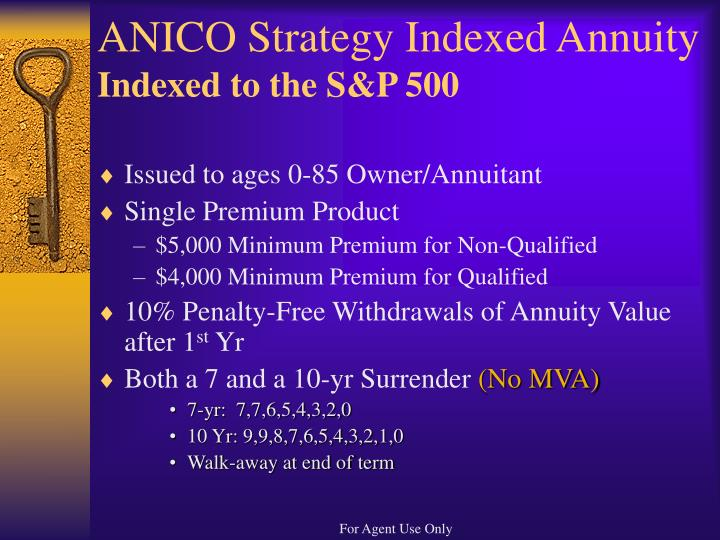 ANICO Strategy Indexed Annuity