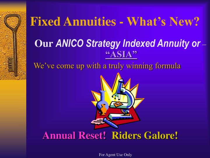 Fixed annuities what s new
